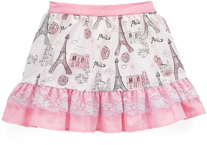 Pink & Silver Paris Trumpet Skirt - Toddler & Girls