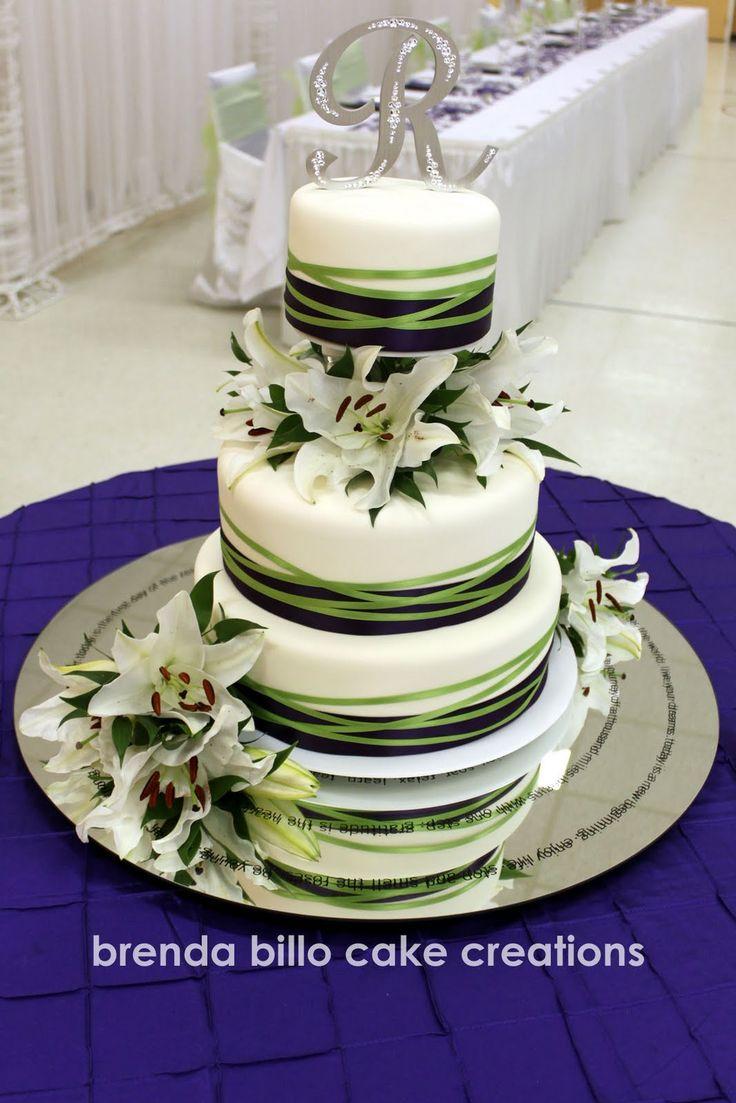purple and green wedding cakes | Brenda Billo Cake Creations: green and purple wedding