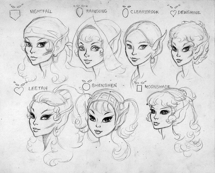 how to draw a female face shape