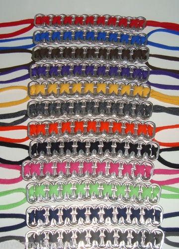 Pop tab bracelets.