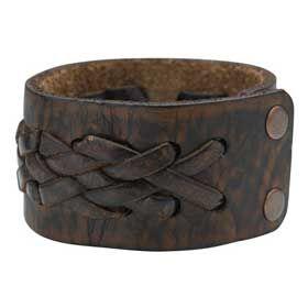 Bracelet en cuir tressé #leather