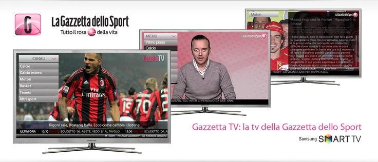 Gazzetta dello Sport, tutto il rosa della vita sulla tua smart tv