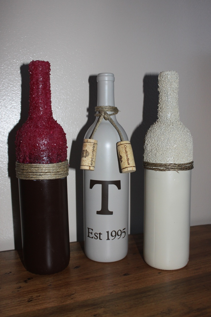Fun with wine bottles craft ideas pinterest for Fun things to do with wine bottles