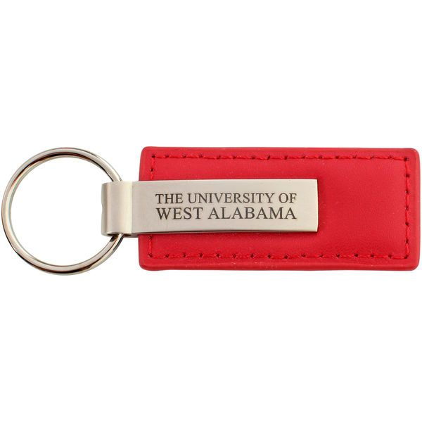 University of West Alabama Leather and Metal Key Tag - $4.99