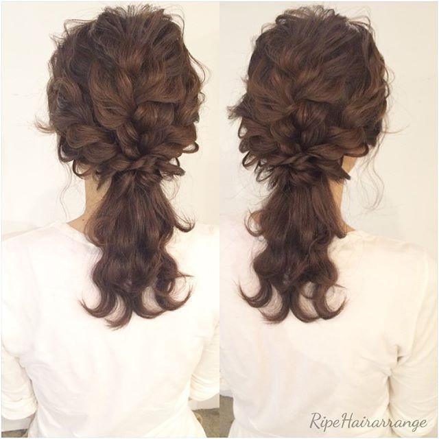 今日のアレンジモデルさん * ** ありがとうございました * ** #hair #hairset #hairsalon #hairstyle #hairarrange #kumamoto #ヘアアレンジ #熊本美容室 #熊本 #ヘアセット#結婚式#bridal #bridalhair #wedding #weddingday