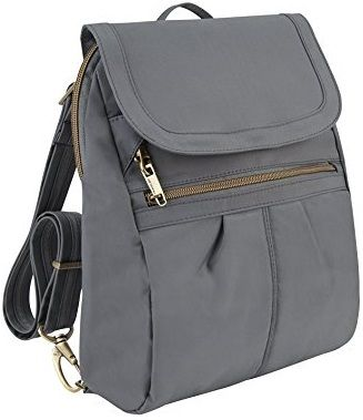Travelon Anti-theft Purse Backpack | Safety is a concern for most travelers, but don't let the fear of pickpockets in Europe stop you from visiting your dream destination! Some smart preparation and vigilance can keep you safe. Here are six tools to help prevent this from happening to you. | travelfashiongirl.com