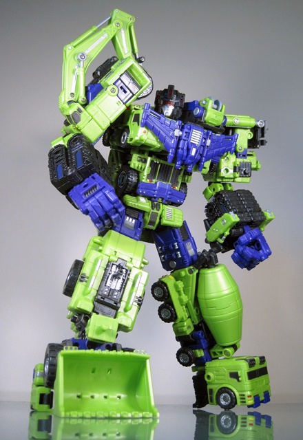 Devastator - Transformers were all the craze son!  We managed to get one of these transformers when we (Uncle and I) were young.  By one I mean we had the arm! ha ha.