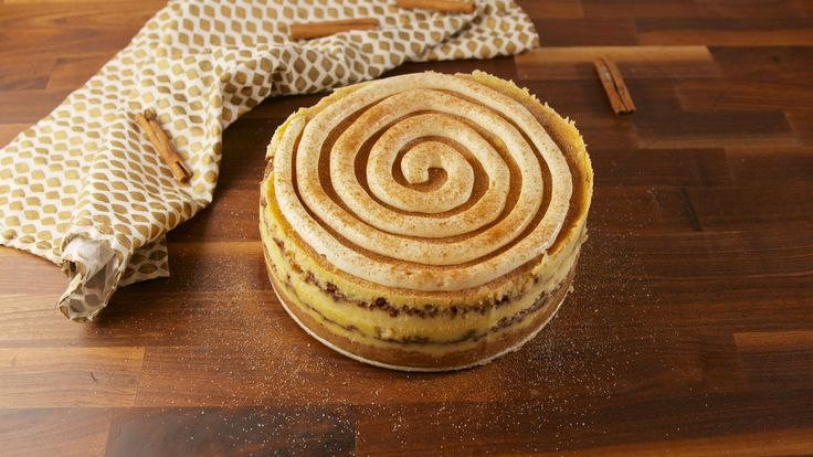 Cinnamon Roll Cheesecake  - Delish.com