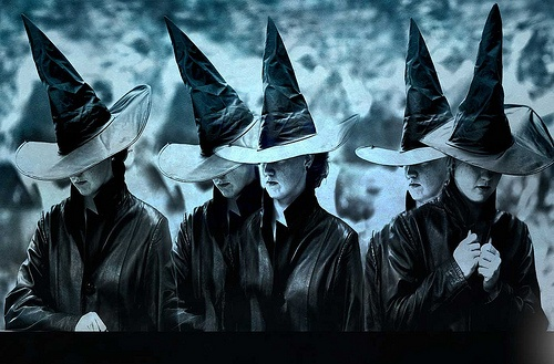 Magick Wicca Witch Witchcraft:  A Witch parade.