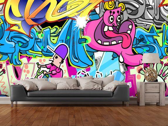 Graffiti Urban Art wall mural room setting