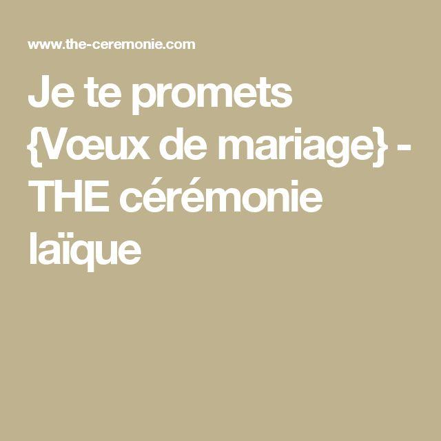 Je te promets {Vœux de mariage} - THE cérémonie laïque