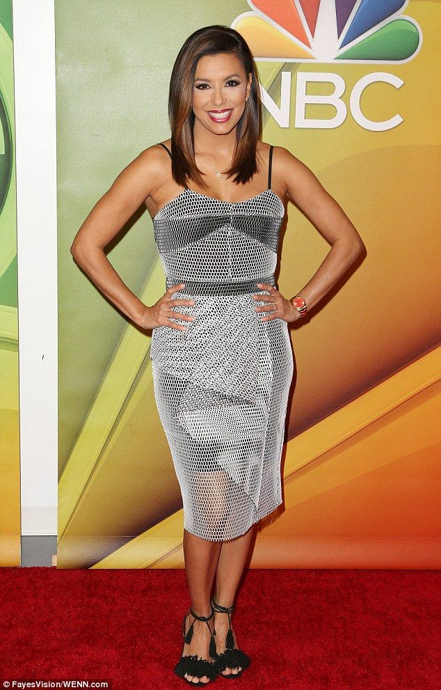 Latina in charge: 40 yo Eva Longoria 'armed herself' in a chainmail-inspired frock to meet the p...