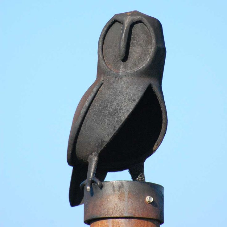 Small Metal Owl cowl. Decorative chimney cowl for all kinds of chimney flues