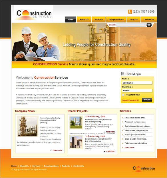 42  Engineering Website Themes