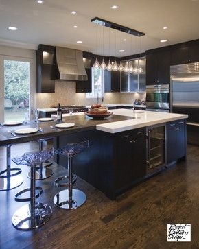 T-Shape Kitchen Island Home Design Ideas, Pictures, Remodel and Decor