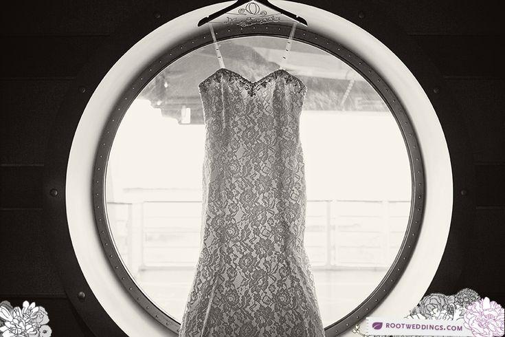 Disney Cruise Line Castaway Cay Wedding - Porthole Wedding Dress