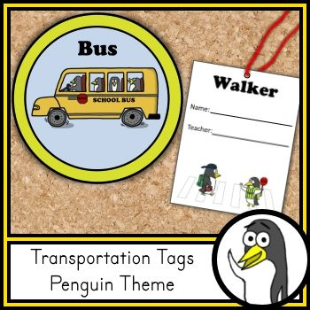 These transportation tags can help keep dismissal time organized. The set includes a clip chart to show how each student will get home. The set also includes smaller tags that can be attached to backpacks or worn on the child's clothing during the first week of school. The smaller tags have been provided in both color and black and white.  The set includes: Bus, Car, Walker, Bike, and After Care. #classroomdecor #elementary #transportationtags #buspasses #dismissal #kindergarten #FIRSTGRADE