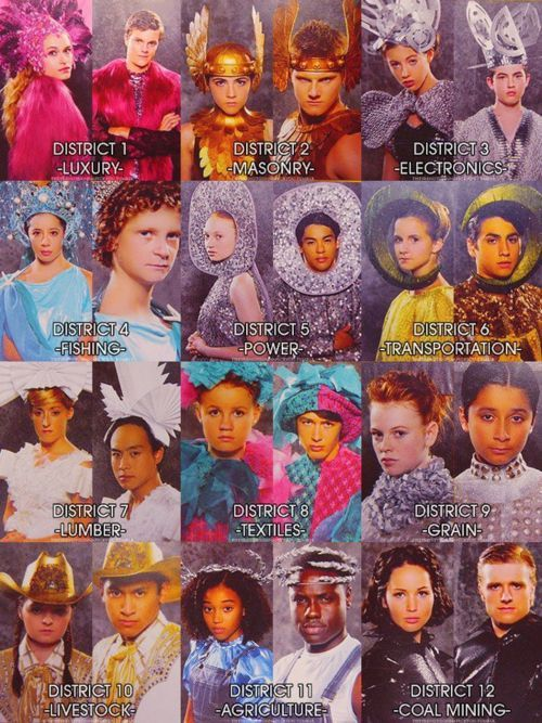 District outfits. Now I can finally see what they look like.Games Tribute, Hunger Games3, Costumes, The Hunger Games, District Outfit, Stuff, Book, Movie, Thehungergames