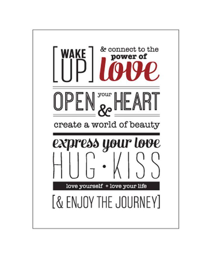 Regalos que encantan: Afiche [LOVE TO BE] wake up love en Dekosas.