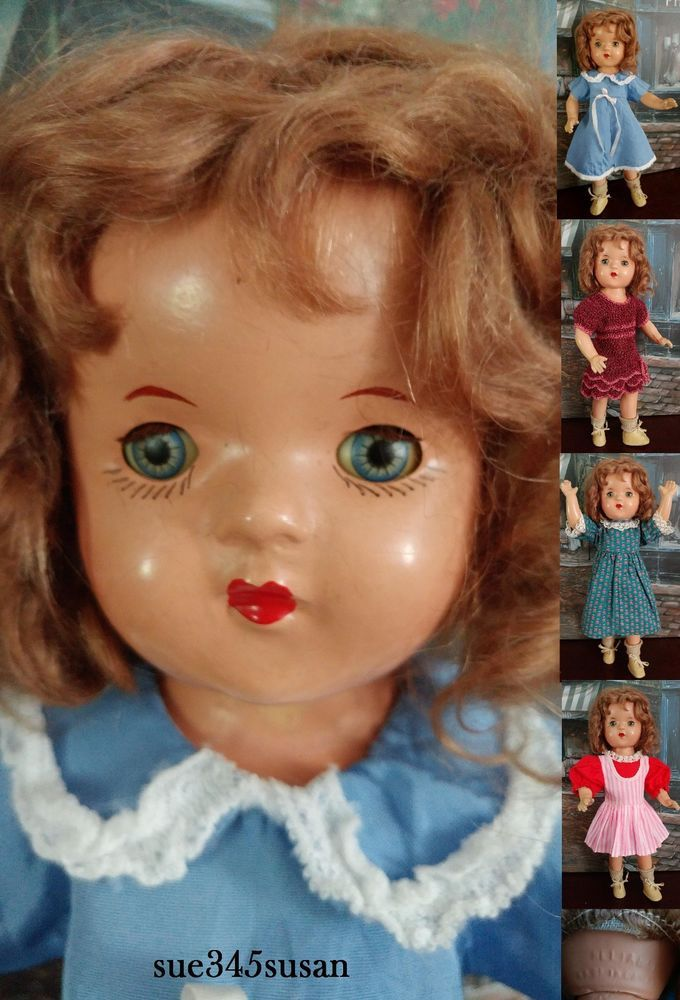 Vintage Composition Baby Doll - Mohair Wig - 15  - Sleeping Eyes Reliable Canada | eBay