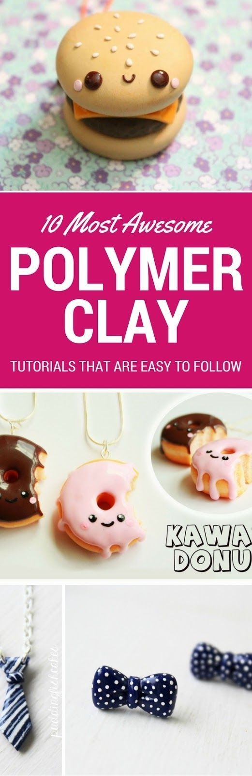 10 Polymer Clay Tutorials Step By Step Anyone Can Follow - Looking for a fun DIY Craft Project? Then you totally have to try making these Polymer Clay Charms! They are so AWESOME.