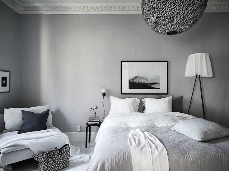 Light Grey Bedroom With Monochromatic Decor Are You Looking For Unique And Beautiful Art Photo