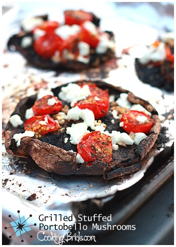 It's shocking how satisfying a good mushroom can be, and the roasted tomatoes kind of make it taste like pizza!: Mushrooms 015, Stuffed Portobello, Cooking Bride, Brides, Yummy Eats, Portobello Mushrooms, Appetizers, Bride Blog, Mushrooms Low