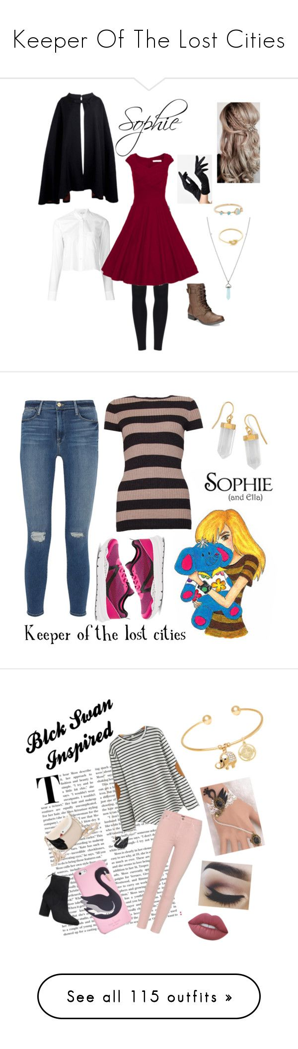"""""""Keeper Of The Lost Cities"""" by hyperducky ❤ liked on Polyvore featuring keeperofthelostcities, kotlc, sophiefoster, shannonmessenger, keefe, Helmut Lang, WithChic, Pierre Cardin, Hot Topic and American Rag Cie"""