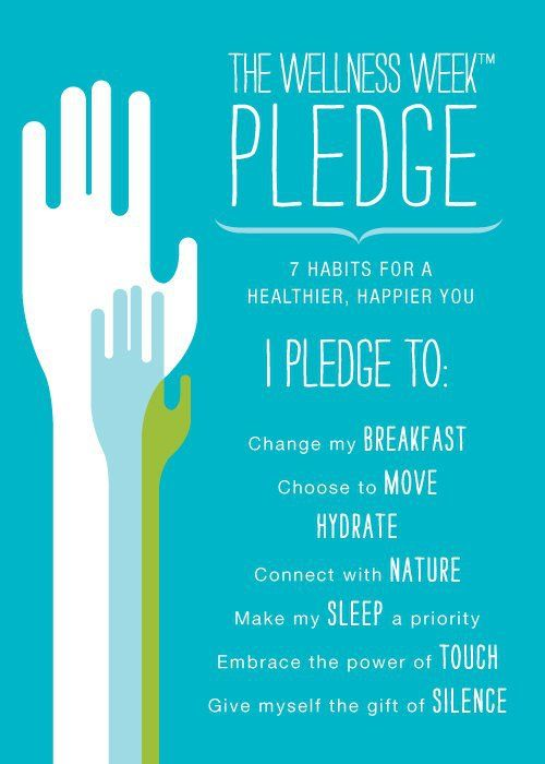 Take the Wellness Week Pledge! More info: http://www.spafinder.com/wellnessweek/pledge.htm