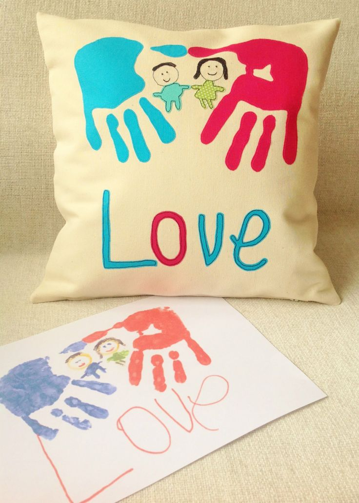 Personalised Cushion Cover with Your Child's by RaspberryButton, £25.00
