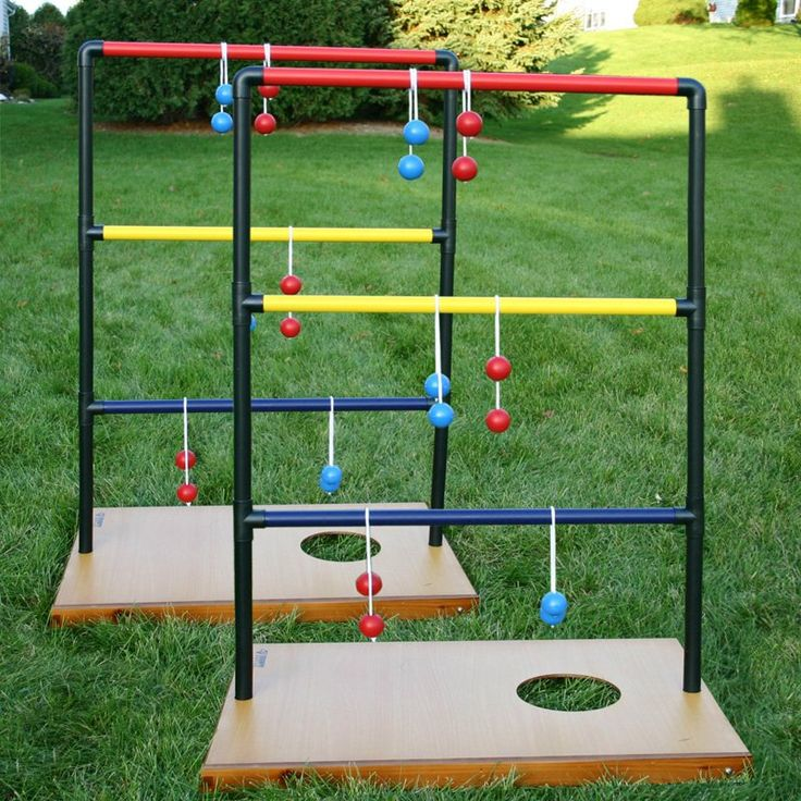 Corn hole & ladder toss & 1 other in one package!!  Triumph Sports Trio Toss Deluxe Game - Ladder Ball at Hayneedle