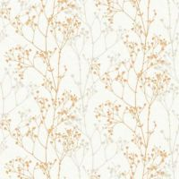 UN2002 - Unplugged Branches Grey & Orange Galerie Wallpaper