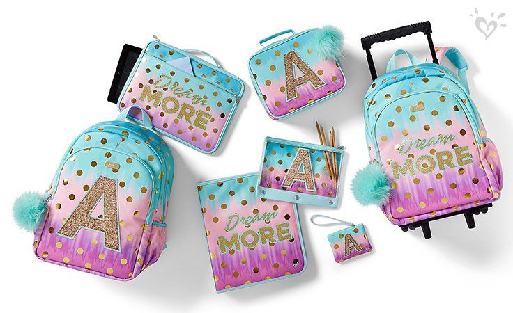 Foil Dot Ombre Vibes She Can Take Any Where Justice Backpacks Girl School Supplies Girls Bags