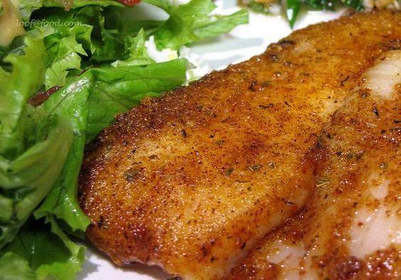 Pan Fried Seasoned Tilapia Without Breading Use Recipe More So For The Seasoning Talapia Recipes Fish Recipes Recipes