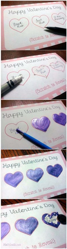 Romantic Scratch-Off Cards