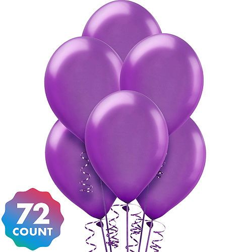 Purple Pearl Balloons 72ct In 2019