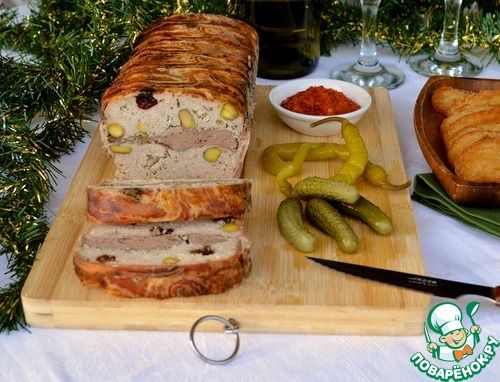 Террин из свинины и куриной печени - кулинарный рецепт
