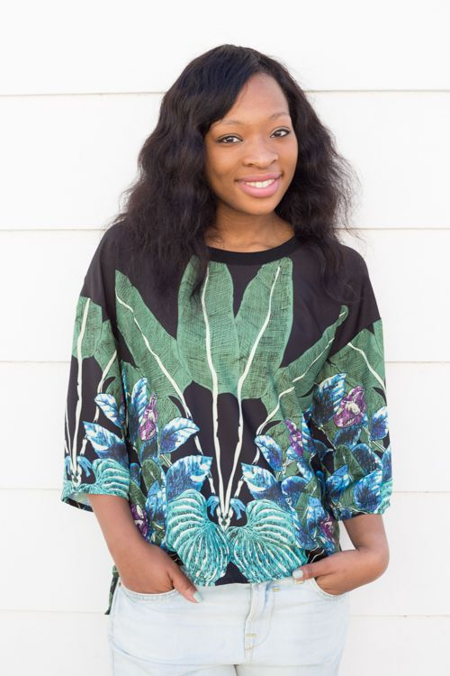 Old Khaki Essentials: Kassa Tropical printed Blouse