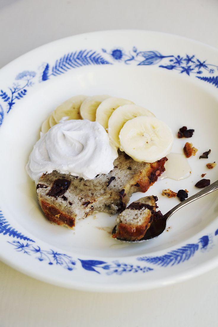 Banan- och chokladkaka