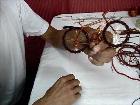Elabore una bicicleta todo terreno con la técnica de la filigrana, en alambre de cobre esmaltado y con pocas herramientas disfrute de este proyecto.
