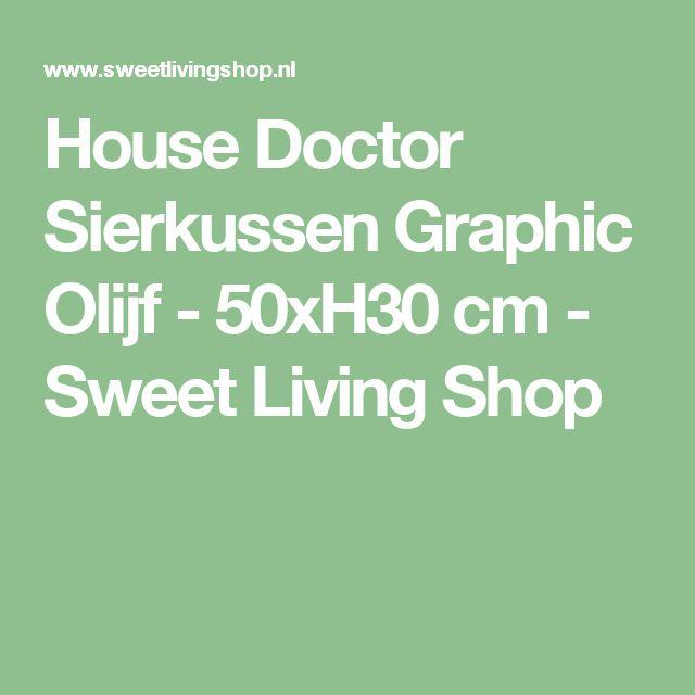 House Doctor Sierkussen Graphic Olijf - 50xH30 cm - Sweet Living Shop