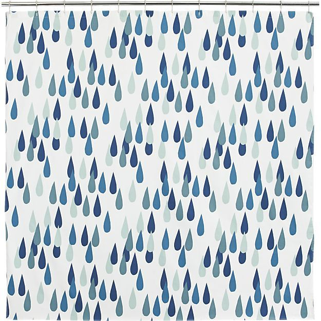 Marimekko Iso Pisaroi Shower Curtain in Shower Curtains & Rings | Crate and Barrel