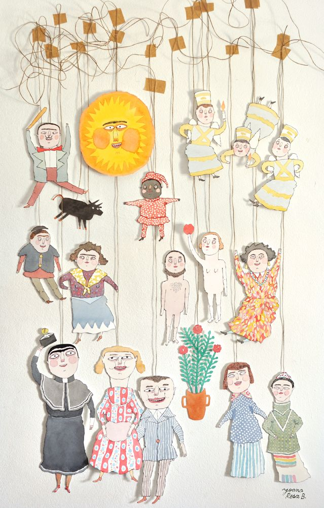 Paper Puppets - Joana Rosa Bragança http://www.joanarosab.com/