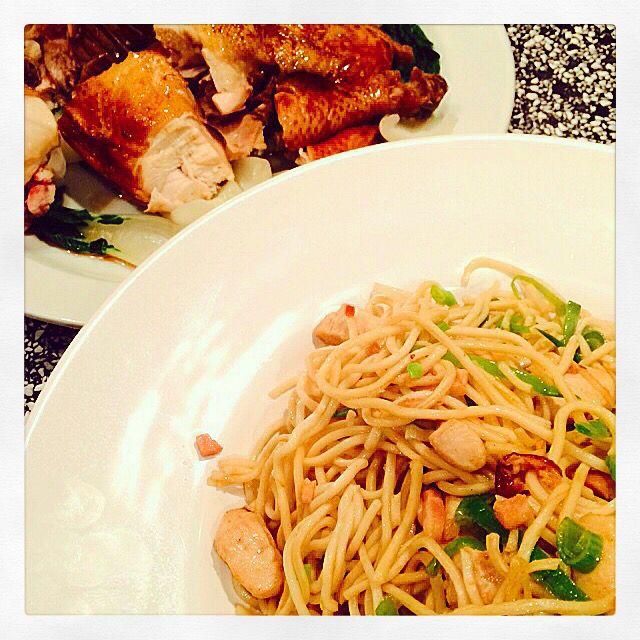 Chow Mein met soja kip