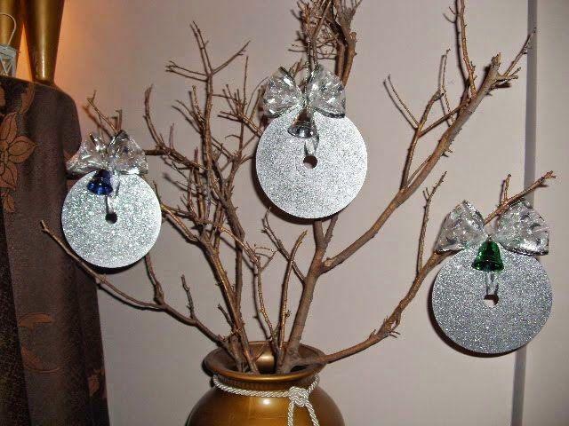 Χριστουγεννιάτικα στολίδια από cd! | Φτιάξτο μόνος σου - Κατασκευές DIY - Do it yourself