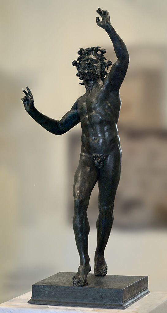 Dancing Faun. Bronze. 2nd century BCE. Height 71 cm. Inv. No. 5002. Naples, National Archaeological Museum