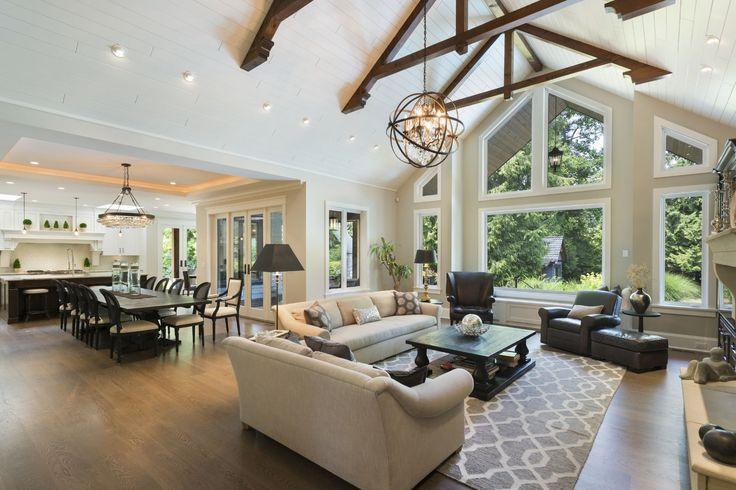 Best 25 kitchen family rooms ideas on pinterest kitchen - Kitchen dining room and living room all open ...