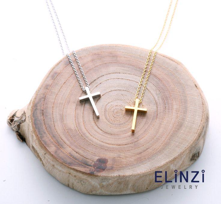 SL cross necklace by ELINZIjewelry on Etsy