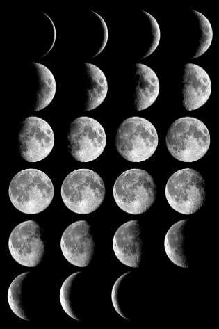 The Hopi ceremonial calendar is dictated by the cycles of the sun and moon, with the moon phases determining specific ceremonies.