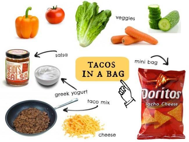 camping 101: walking tacos.